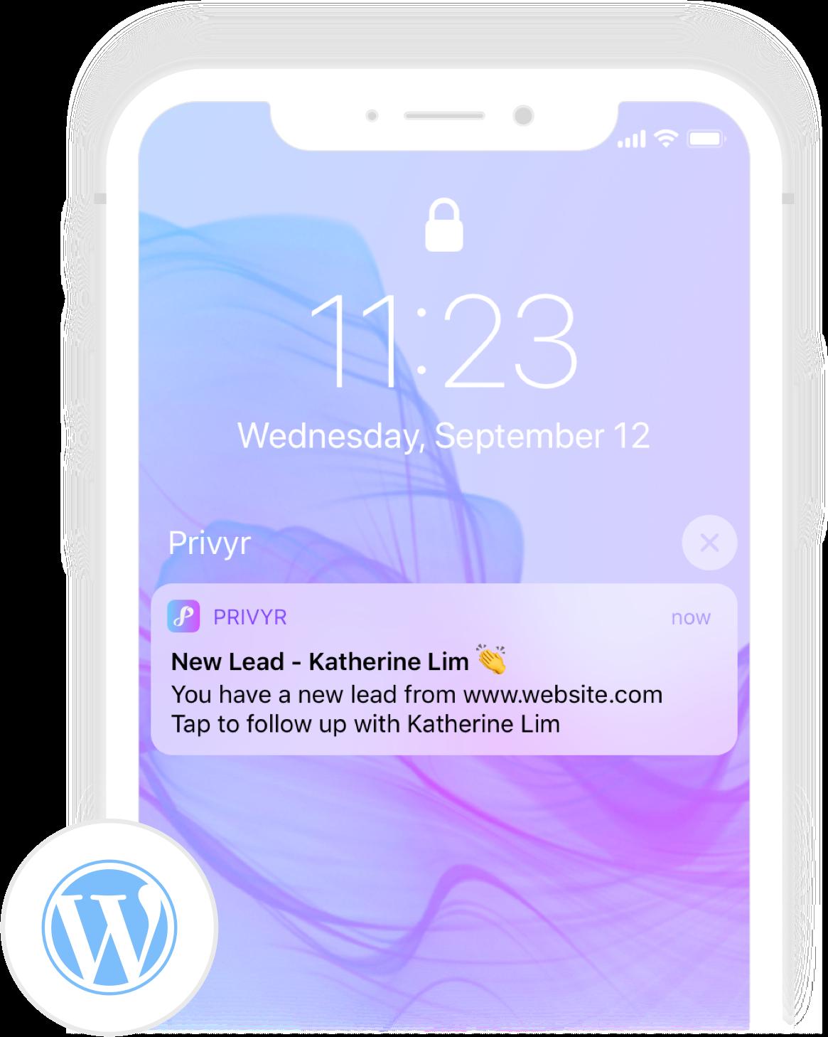 Privyr Device Screenshot